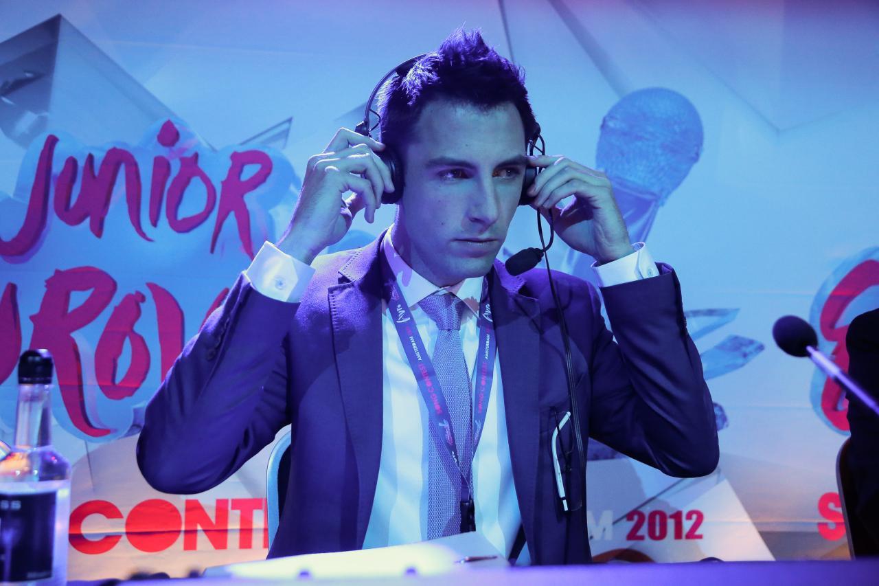 Sietse op het Junior Eurovisie Songfestival.